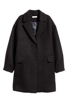 H&M Short Wool-blend Coat - Black - Women