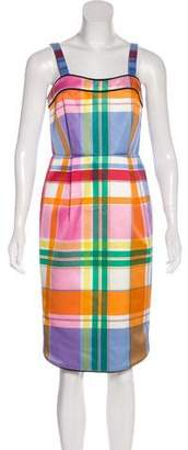 Thom Browne Plaid Sleeveless Dress