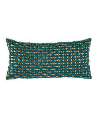 Sabira Patra Applique & Beadwork Pillow
