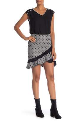 Nicole Miller New York Plaid Polka Dot Skirt