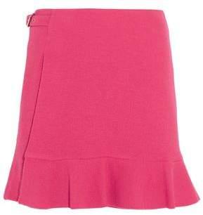 Moschino Wrap-effect Crepe Mini Skirt