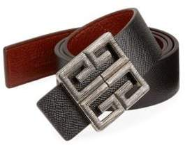 Givenchy Men's Big Buckle Reversible Belt - Navy Red - Size 100 (40)