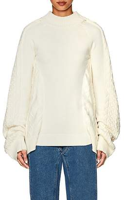 Y/Project Women's Oversized Mixed-Stitch Fisherman Sweater - White