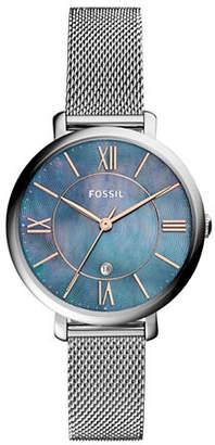 Fossil Jacqueline Stainless Steel Link Bracelet Watch