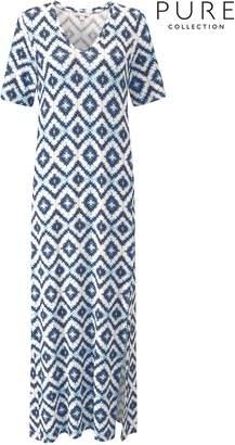 Next Womens Pure Collection Blue Jersey Maxi Dress