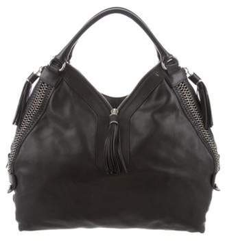 Etro Leather Tassel Hobo Black Leather Tassel Hobo