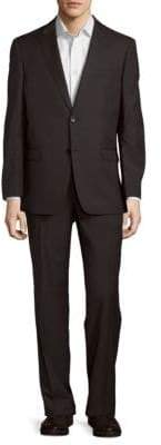 Tommy Hilfiger Classic Fit Sharkskin Wool-Blend Suit