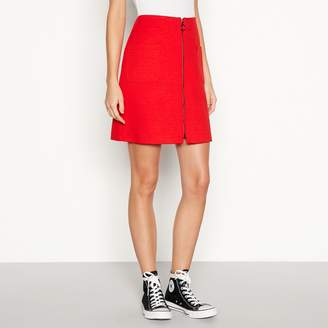 Red Herring Red Zip Front Mini Skirt