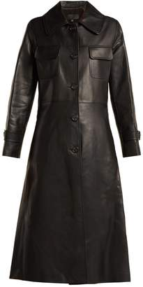 Nili Lotan Point-collar leather trench coat