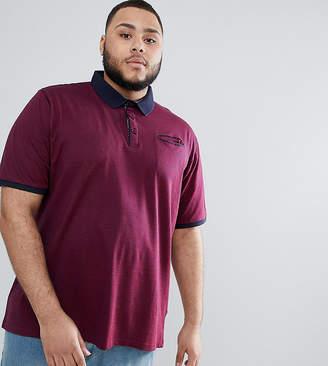 Duke King Size Pique Polo Shirt With Contrast Collar