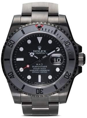 Rolex MAD Paris black Submarine Date stainless steel watch