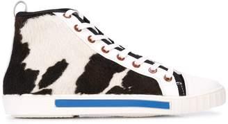 Carven textured hi-top sneakers