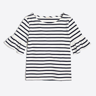 Striped ruffle-sleeve T-shirt $45 thestylecure.com