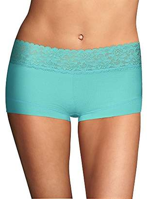 Maidenform Women's Dream Cotton Lace Boy Short