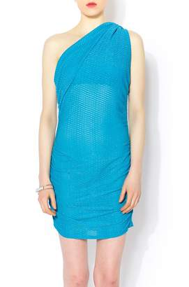 Celeste Aqua Gathered Dress