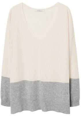 Violeta BY MANGO Contrasting cashmere sweater