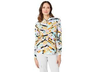Jamie Sadock Sunsense(r) 50 UVP 1/4 Zip Long Sleeve Top with Shattered Print