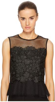 Sportmax Nero Sleeveless Floral Top Women's Clothing