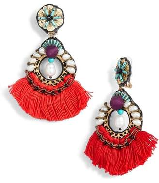 Ranjana Khan Finch Tassel Earrings