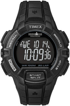 Timex Ironman Rugged Mens 30-Lap Black Dial Watch