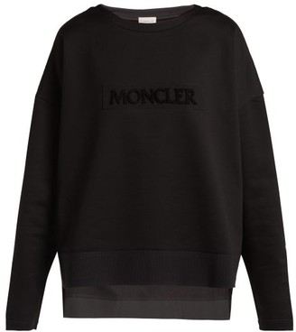 Moncler Maglia Girocollo Cotton Sweatshirt - Womens - Black