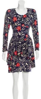 Sonia Rykiel Silk Printed Dress Blue Silk Printed Dress