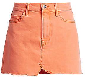 Frame Women's Split Front Denim Mini Skirt