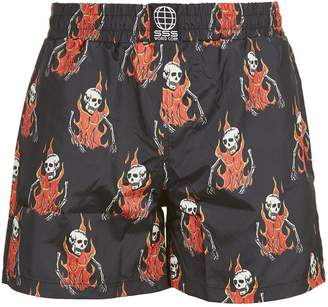Sss World Corp Skull Boxer Shorts