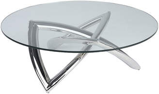 One Kings Lane Martina Coffee Table - Clear/Silver