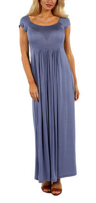 24/7 Comfort Apparel Cool Drink Of Water Maxi Dress Misses Plus