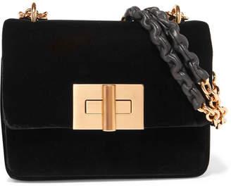 Tom Ford Natalia Velvet Shoulder Bag - Black