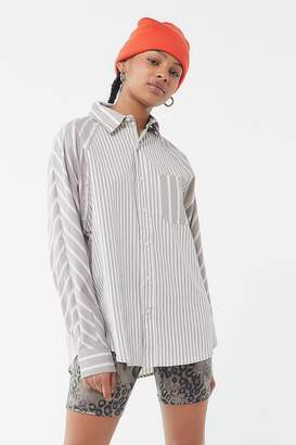 Urban Outfitters Stevie Spliced Button-Down Top
