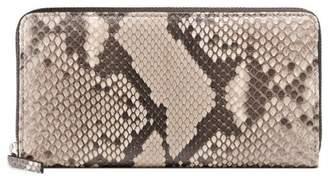 Gucci Python zip around wallet