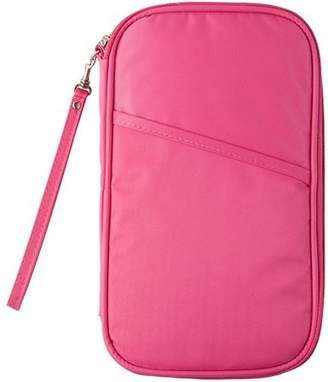 Homax New Travel Passport Wallet, Family Passport Holder Waterproof Document Travel Organizer-Pink