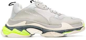 Balenciaga grey triple s lace-up sneakers grey