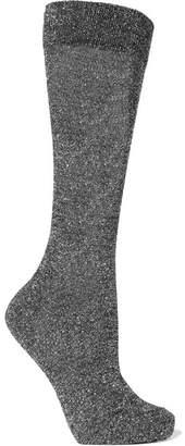 Isabel Marant Mileya Lurex Socks - Silver