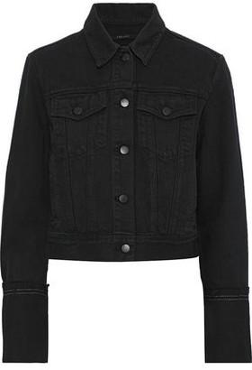 J Brand Harlow Frayed Denim Jacket
