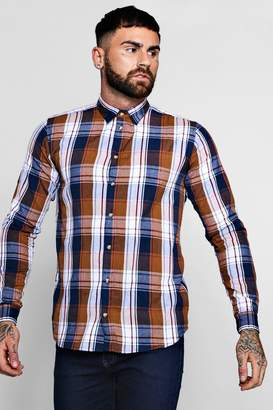 boohoo Long Sleeve Flannel Check Shirt