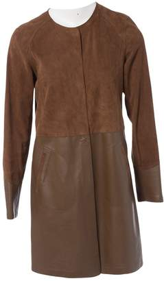 Gerard Darel Brown Suede Coats