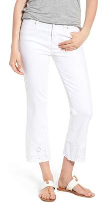 Liverpool Hannah Embroidered Raw Hem Jeans