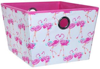 Laura Ashley Large Grommet Storage Bin in Pretty Flamingo