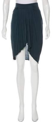 Helmut Lang High-Low Knee-Length Skirt