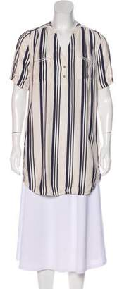 Ulla Johnson Short Sleeve Stripe Mini Dress