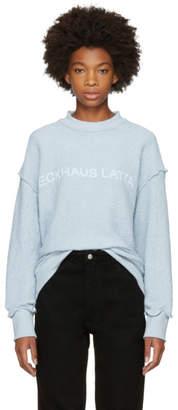 Eckhaus Latta Blue Logo Sweatshirt