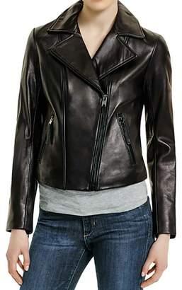 MICHAEL Michael Kors Michael Kors Motorcycle Leather Jacket-L