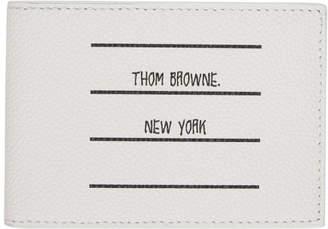 Thom Browne White Paper Label Money Clip Wallet
