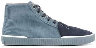 Lanvin two tone hi-top sneakers