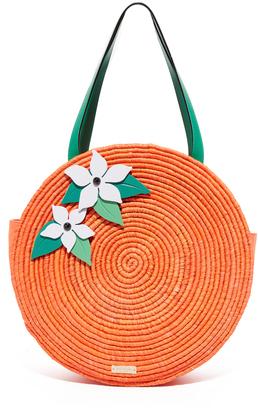 Kate Spade New York Straw Orange Tote $398 thestylecure.com