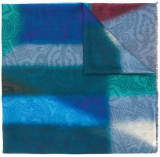 Etro dyed paisley scarf