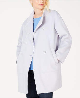Eileen Fisher Wool Oversized-Stand Collar Coat